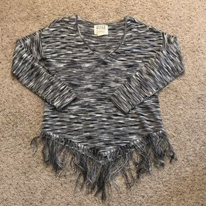 Billabong V-Neck Fringe Sweater!